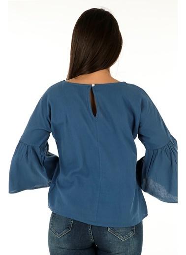 Bebe Plus Bluz İndigo